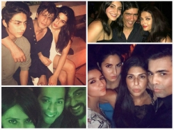 Shahrukh Khan Chills With Aryan Khan Sara Ali Khan See Inside Pictures Karan Johar Birthday Bash