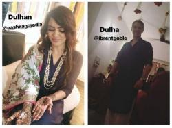 Aashka Goradia Brent Goble Get Engaged Again Mouni Roy Adaa Khan Kvb Others Attend Pics