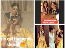 Smriti Khanna Mehndi Smriti Gautam Dance Their Heart Out Radhika Madan Others Attend Pics Video