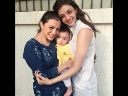 Kajal Aggarwal S Recent Photos With Her Sister Nephew Are Priceless