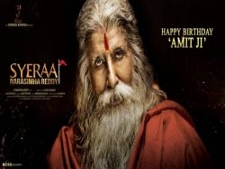 Happy Birthday Amitabh Bachchan Big B S Look Sye Raa Narasimha Reddy