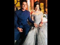 Prince Narula Yuvika Chaudhary Look Every Bit Like A Royal Couple At Their Chandigarh Reception Pics