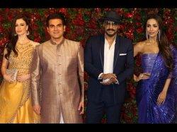 Arbaaz Khan Awkward Encounter With Ex Wife Malaika Arora At Deepika Ranveer Reception
