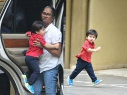 Taimur Ali Khan Cant Wait For His Playtime Runs Towards The Jungle Gym