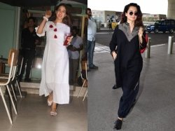 Sara Ali Khan Steps Out Of Cafe Radiant No Makeup Look Kangana Ranaut Boho Airport Look