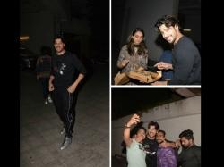 Birthday Boy Sidharth Malhotra Cuts Cake At Midnight In Medias Presence Pictures