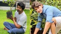 Vijay Takes Up Green India Challenge Says This Is For You Mahesh Babu Garu