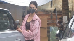 Kriti Sanon Seen Prepping For Upcoming Film Ganapath Gets Spotted Post Action Training Session