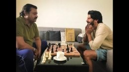 Dulquer Salmaan Shares A Click With Suresh Gopi!