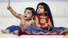 Yash's Kids Ayra And Ayush Look Adorable As Krishna-Radha!