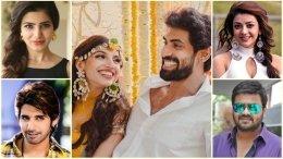 Tollywood Celebs Wish Rana & Miheeka On Their Wedding