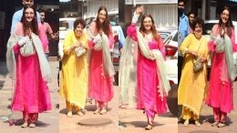 Bride-To-Be Kajal Aggarwal Greets Paparazzi On Her Big Day