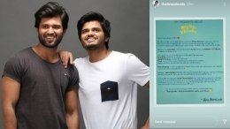 Vijay Deverakonda Pens A Review For Middle Class Melodies
