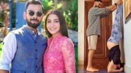 Mom-To-Be Anushka Does Shirshasana With Hubby Virat's Help