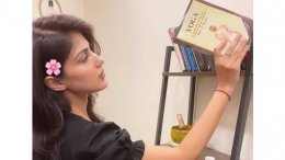 Rhea Chakraborty Shows Her Love For Books And Yoga