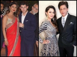 Awkward Much? Priyanka Chopra-Nick Jonas & Gauri-Shahrukh Khan Party Under One Roof At Ambani's Bash