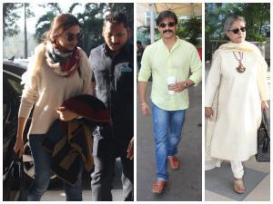 Spotted: Deepika Padukone,Bollywood Celebs At Mumbai Airport