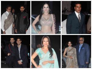 Pics: Bollywood Celebs At Tulsi Kumar's Wedding Reception