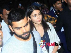 Pics: Virat-Anushka Sharma Snapped At International Airport