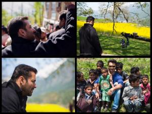 Salman's Candid Pics In Kashmir Clicked By Arpita's Hubby