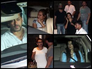 Pics: Upset B-Town Celebs Visit Salman At Galaxy Apartment