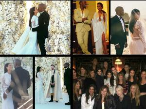 Kim and Kanye's 1st Wedding Anniversary: Pics From Ceremony