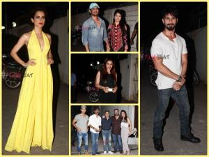 Dhanush & Celebs At Tanu Weds Manu Returns Success Party