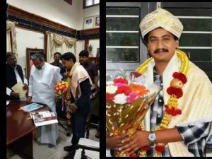 CM Siddaramaiah Honours National Award Winner Sanchari Vijay