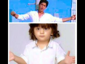Must See: SRK Posts The Cutest Pic Of ABRAM On Twitter