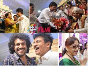 Sandalwood Celebs At Nirupama-Dileep Wedding