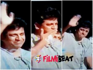 Shivarajkumar Waves Hi! To Worried Fans Near Hospital !