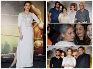 In Pics: Aishwarya With Family & In-Laws At Jazbaa Screening