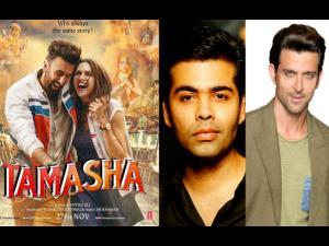 Hrithik Roshan & Karan Johar Go Gaga Over Tamasha!