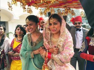 PICS: Gorgeous Nimrat Kaur Attends Sister's Lavish Wedding!