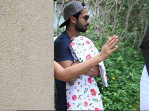 FIRST PICTURE! Shahid Spotted With His Newborn Baby