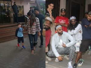 Ranveer Poses With RL Gully Boys; AbRam Signals No To Paps