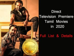 Direct Television Premiere Movies in Tamil in 2021