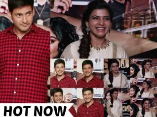 CUTE PICS! Mahesh Babu And Samantha Launch Kshanam Trailer