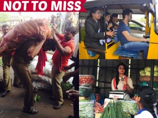 PICS: Tollywood Celebrities Clicked Doing Odd Jobs