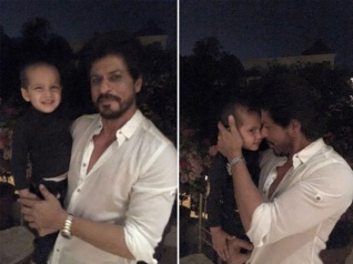 SRK's Adorabl Pic With Yusuf Pathan's 2-Year-Old Son Ayaan