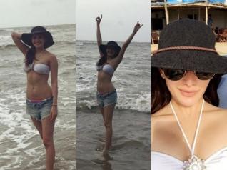 Amyra Dastur Chills In A Bikini At The Serene Beaches Of Goa