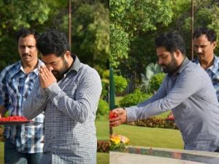PHOTOS: Jr NTR Visits NTR Ghat Along With Koratala Siva