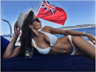 Phew! Amy Jackson Chills On A Yacht In Formentera Islands