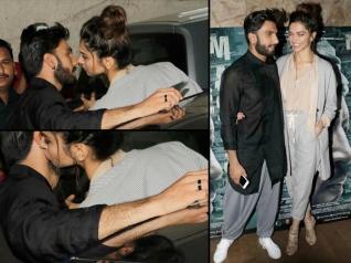 UNBELIEVABLE! Deepika KISSES Ranveer In Front Of The Cameras