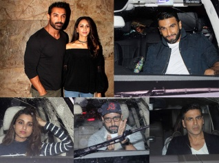 Wow: John's Wife Priya, Ranveer, Akki At Dishoom's Screening