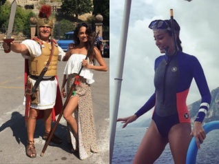 Pictures! Lisa Haydon Holidaying In Pompeii, Italy