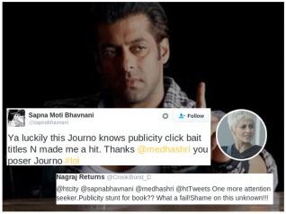 CONTROVERSIAL! Sapna Bhavnani ABUSES Salman Khan!