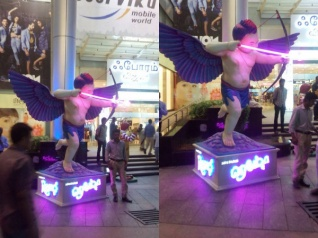 Kids Fall In Love With 'Remo' Cupid Statues Across TN!
