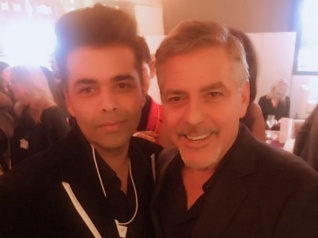 Karan Johar Poses For An Epic Picture With George Clooney!