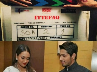 Sidharth-Sonakshi's Ittefaq Goes On The Floors; SEE PIC!
